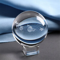 60mm Laser Engraved Solar System Ball 3D Miniature Planets Sphere Glass Globe