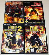 4 PC SPIELE SAMMLUNG - FIRE DEPARTMENT 1 2 3 & EMERGENCY FIREFIGHTER DISTRICT 47