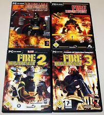 4 PC SPIELE SAMMLUNG - FIRE DEPARTMENT 1 2 3 & EMERGENCY FIREFIGHTER DISTRICT 47