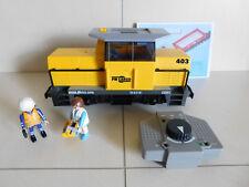 Playmobil RC Train gelbe Güterlok / Lok aus 5258 mit Licht Sound + Fernbedienung