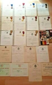 12 Orden mit Urkunden Feldspangen Armbinde u.s.w.  Belgien  !!!