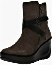 Fly London Women's Jaso080fly Wedge Ankle Boots Ranch Brown Ground/Black UK 6
