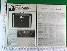 Sesión de Peavey 400 (115 Pc) 1978 artículo Vintage/Combo De Guitarra de revisión