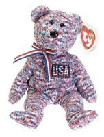 USA the American Bear - Ty Beanie Baby