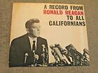 A Record from Ronald Reagan To All Californians 1966 Flexidisc Republican Orig