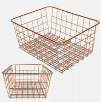 NEW 2 Set Wire Basket Organizer Storage Vintage Farmhouse Farm Industrial Bin