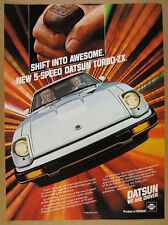1983 Datsun 280ZX TURBO-ZX silver car photo vintage print Ad