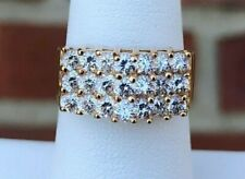 14K GOLD PRONG SET CUBIC ZIRCONIA BAND SIZE 7