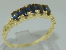Sapphire Eternity Yellow Gold Oval Fine Gemstone Rings