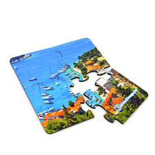 10set Sublimation blank diy customize table placemat coaster Puzzle drink pads