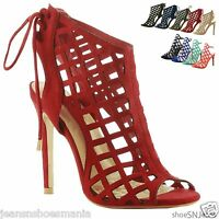 New Women Gladiator Cut Out Dress Peep Toe Stiletto High Heel Party Sandals