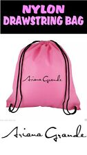 Ariana Grande Drawstring Bag 100% Nylon Pink Or Black Available
