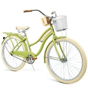 Huffy, Nel Lusso Classic Cruiser Bike with Perfect Fit Frame, Women's, Green, 26