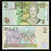 Fiji P-109 2 Dollars Year ND 2007 Uncirculated Banknote Queen Elizabeth ll
