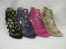 """""""SALE""""  Ladies Spot On High Heeled Sandal with Back Zip  10414"""