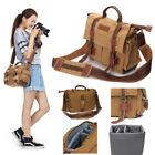 Unisex Koolertron Universal Canvas DSLR SLR Camera Bag Shoulder Messenger Bag