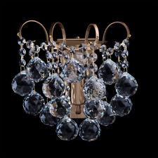 Applique barocco lampada da parete colore ottone antico metallo gocce cristalli