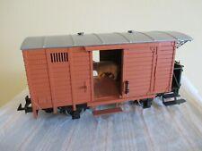 LGB Spur G Gedeckter Güterwagen/Viehwagen Metallradsätze s.Foto o.OVP WH7685