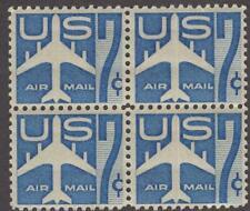 Scott # C 51 - Block Of 4 - Jet Silhouette Blue - Mnh - 1958