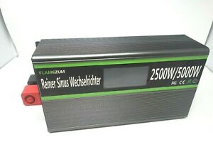Flamezum Power Inverter DC 24V To AC 110V 2500W 5000W LCD Solar Converter