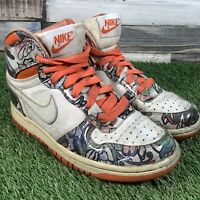 UK3.5 Nike Dunk Grand High Top Trainers - Graffiti 2009 VTG Retro - EU35.5