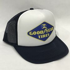 Good Year Tires Promo Trucker Hat Vintage 80's Mesh Back Snapback Cap Old Logo