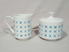 "Mikasa ""Cerastone ""Petit Point"" 3077 - Sugar Bowl and Creamer Set - EXCELLENT"