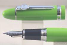 Jinhao Oversize No. 159 Medium Fountain Pen, Lime Green with Chrome Trim