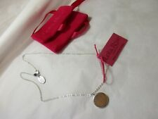 lola rose silver toned disc necklace (unengraved)