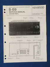 KENWOOD B-B9 AMP EQUALIZER SERVICE MANUAL ORIGINAL FACTORY ISSUE GOOD CONDITION