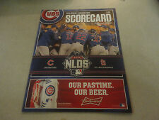 Amazing 2015 Official Chicago Cubs vs. St.Louis Scorecard Postseason Edition