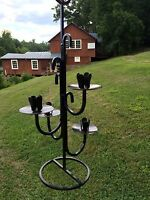 Antique Prim VINTAGE FRENCH WROUGHT IRON CANDELABRA CANDLE HOLDER GOTHIC STYLE