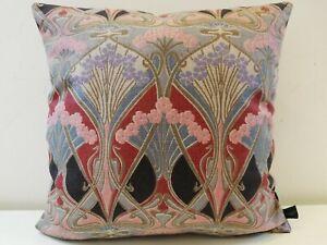 Liberty William Morris Ianthe Linen & Velvet Back Fabric Arts Cushion Cover Grey