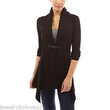 Damen Cardigan Strickjacke Mantel Pullover Longshirt Bluse Sweatshirt Pulli KU