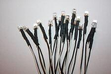 10x 5mm LED Flachkopf verkabelt 15cm LEDs Widerstände 5mm Flattop