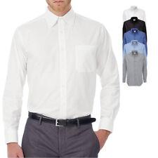 B&c manga larga camisa camiseta Oxford Business sobre trabajo tamaño langärmlig