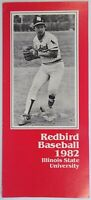 Redbird Baseball Illinois State University Record Schedule Coach Duffy Bass 1982