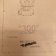 Gottlieb 300 Pinball Machine Schematic
