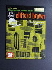* Clifford Brown-Essential Jazz Lines Songbook-Piano/-Flute-Vio lin-Vibes W/Cd