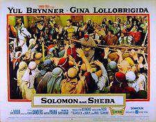 SOLOMON AND SHEBA 1959 Yul Brynner King Vidor LOBBY CARD #8