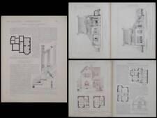 VILLA A TONGRES -1926- PLANCHES ARCHITECTURE- LINGUET, WITRY LES REIMS, FOUCART