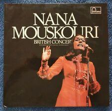 """Nana Mouskouri: British Concert 12"""" Vinyl Double LP Excellent Condition 1972"""