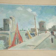 Laloë M. *1906 - Im Hafen von Rochelle Frankreich France Fauvismus Expressionist
