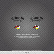 0800 Cinelli Carbon Dish Wheel Graphics Bicycle Stickers - Decals - Transfers