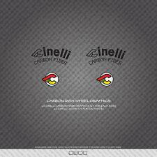 0800 Cinelli Carbonio Piatto grafica Ruota Bicicletta Adesivi-Decalcomanie-Transfers