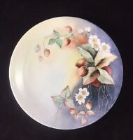 """William GUERIN W.G.&Co. Limoges France 8 1/2"""" Decorative Plate w/ Strawberries"""