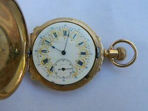 Elgin 11J 16s GF Pocket Watch BOX Case Engraved Deer on Case Beautiful Dial 1891