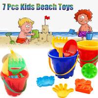 7 PCS Kids Sand Sandbeach Beach Toys Castle Bucket Spade Shovel Rake Water Tools