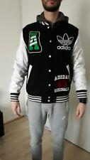 veste homme légère adidas taille S couleur blanc et noir avec gros logo Adidas