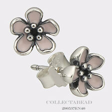 Authentic Pandora Sterling Silver Cherry Blossom Stud Earrings 290537EN40